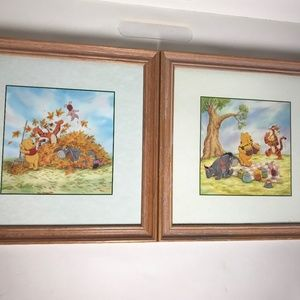 Set of 2 Disney Winnie the Pooh Framed Pictures